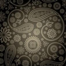 创意华丽花纹矢量素材