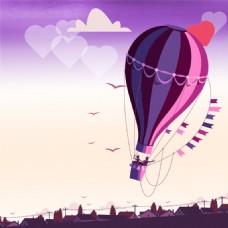 创意热气球背景