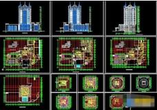 一套五星级酒店设计cad方案图纸