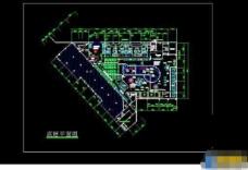 大型桑拿浴场建筑设计cad施工图